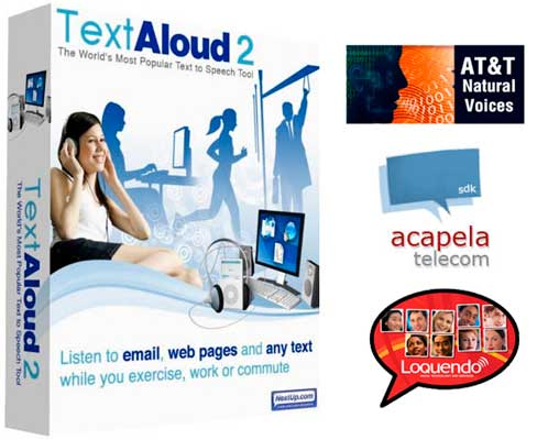 TextAloud 3.0 + AT&T Natural Voices, Acapela and Loquendo Voices
